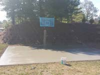 Backyard basketball court in Bridgewater, MA. Whatever your sport, you could have a court surface and accessories of your own in Dennis, Orleans, Norwood, Watertown or Barnstable.