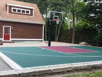 Patio-based basketball court in Dartmouth, MA