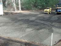 Basketball court construction in Duxbury, MA