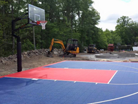 Basketball court installation in North Attleboro, MA, but you could have it in Rehoboth, Dighton, Somerset, Westport or Swansea too.