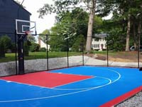 Backyard basketball in Hopedale, MA. This could be your back yard basketball in Marion, Somerset, Fairhaven, Freetown, Plainville, or Easton.