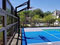Existing Massachusetts court on which we painted new lines to expand the supported sports.