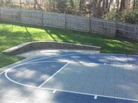 Your MA sport court and landscape can be designed and built to complement each other.