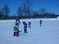 Example of backyard roller hockey court Basketball Courts of MA could install in eastern Massachusetts