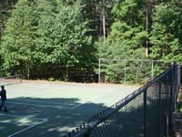 Court resurfacing for multiple games and sports at a residential complex in Duxbury, MA. This could be your commercial basketball or tennis court for tenants in Taunton, Brockton, Plymouth, Worcester, Dedham, or Burlington.