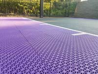Small purple and black basketball court in Stoneham, MA.