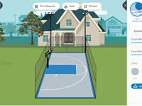 Partial screen capture of Basketball Courts MA court design app.