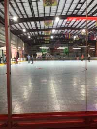 Kapolei, Hawaii inline hockey and skating rink open to the public after resurfacing.