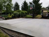 Base ready for installation of low impact Versacourt sport surface in Easton, MA.