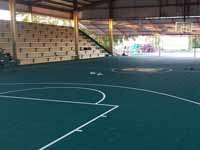 Resurfaced ABBA (Antigua and Barbuda Basketball Association) basketball court and replaced hoops at JSC Sports Complex in Piggotts, Antigua and Barbuda.