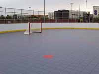 Goal end of inline hockey rink we surfaced for Grand Canyon University in Phoenix, AZ.